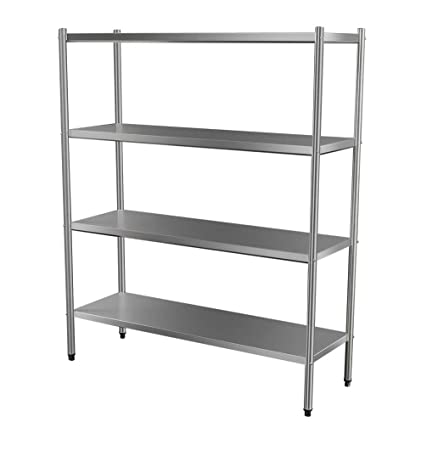 Custom Stainless Steel 4 Tier Solid Storage Rack