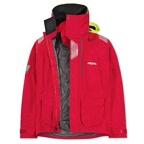Musto BR2 Men's Offshore Waterproof, Windproof, and Breathable Sailing Jacket Red LG