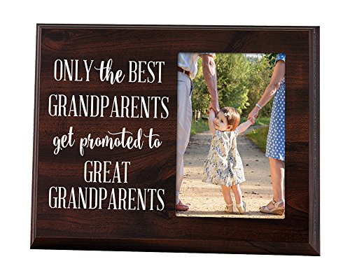 Elegant Signs Only The Best Grandparents Get Promoted Gift for Grandparents Ultrasound Picture Frame Gift for Great Grandpa Ultrasound Gift