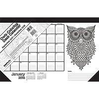 Coloring Owls 2018 Desk Pad Claendar