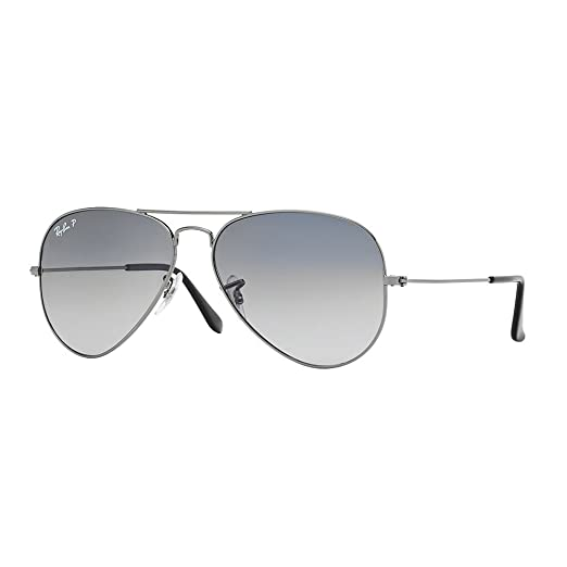f860ee6b8f0fb4 Image Unavailable. Image not available for. Color  Ray-Ban RB3025 004 78  Sunglasses Gunmetal   Crystal Polarized Blue Gradient Gray Lens