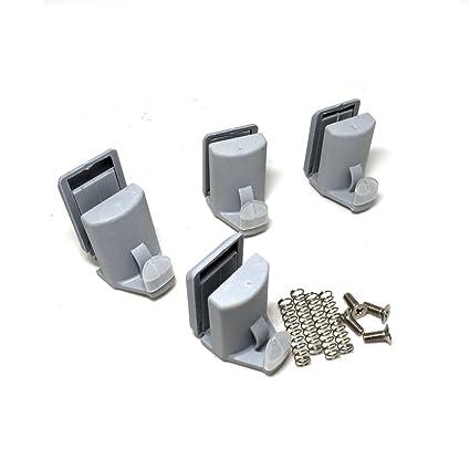 4 x para mampara de ducha ganchos guías/rodillos/ruedas/corredores Cy-