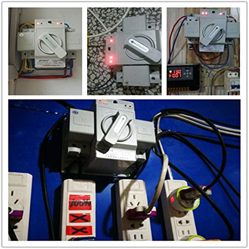 guangshun New Home Dual Power Automatic Transfer Switch 2P 63A 220V Toggle Switch Double Power Automatic Change-Over Switch by guangshun (Image #7)