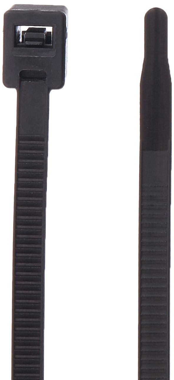 Gardner Bender 46-308UVBSC Nylon Self-Cutting Cable Tie, 8 inch, 50 lb. Tensile, Twist-Off Tail, Zip Tie, 50 Pk, UV Resistant Black