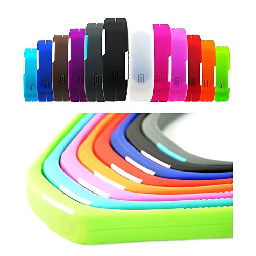 USPRO® Fashion LED Watch Novelty Sports Silicone Digital Bracelet Gray With Very Creative Plastic Band