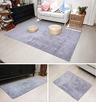 Rugs for Living Room Bedroom, Soft Cotton Absorbent Bath Mat, Non-Slip Easy to Clean Door Mats Bath Rugs (Color : Gray, Size : 50X120cm)