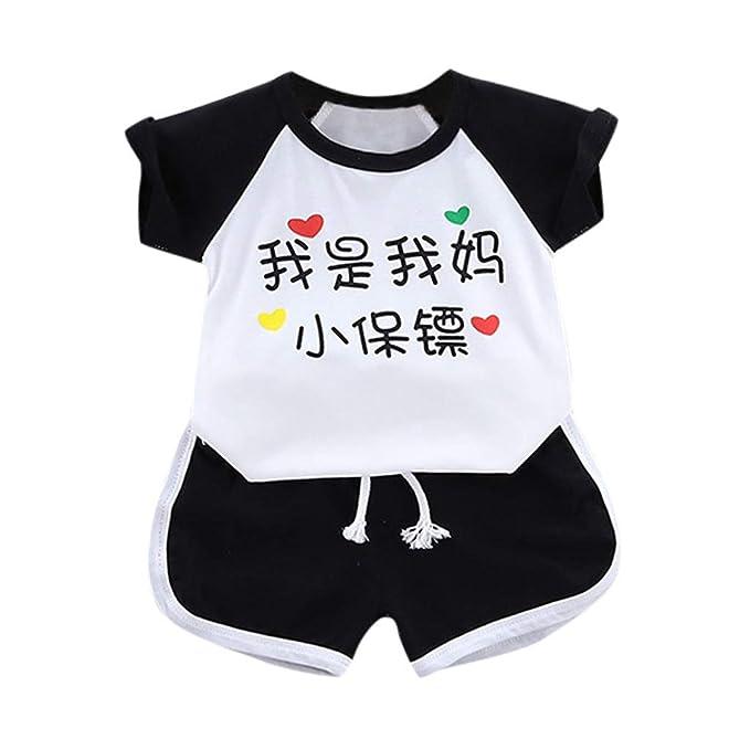 UK Toddler Newborn Kids Baby Boys Clothes T-shirt Tops+Short Pants Outfits Sets