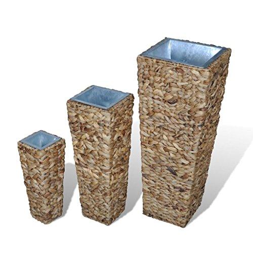 Hyacinth Planter (Daonanba Planter Pot Set Outdoor Indoor Water Hyacinth Planter Set Natural Rectangle)