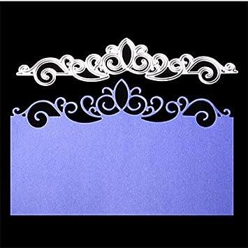 Plantillas de corte de metal con encaje para corona ...