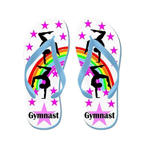Cafepress Stjärna Gymnast - Flip Flops, Roliga Rem Sandaler, Strand Sandaler Caribbean Blue