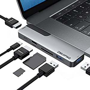 USB C Adapters for MacBook Pro 2020, MacBook Pro USB Adapter HDMI MacBook Pro Air Multiport Adapter with 2 HDMI 4K@60hz…