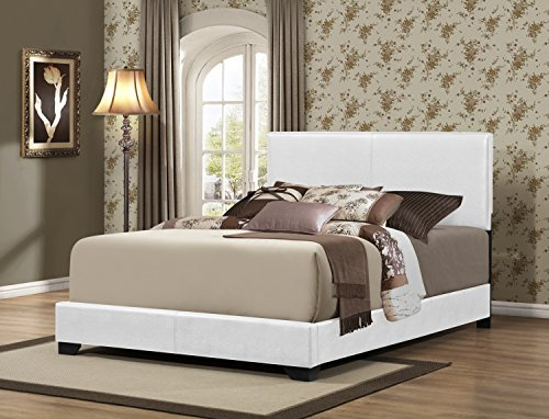 Furniture World Preston Contemporary Upholstered Bed, Twin,