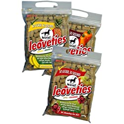 Leovet Leoveties Horse Treats (1kg Pack) - Resealable Zip Bag
