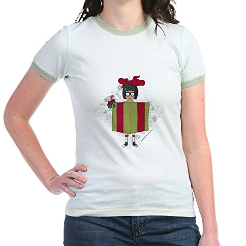 CafePress - Bob's Burgers - Jr. Ringer T-Shirt, Slim Fit 100% Cotton Ringed Shirt ()