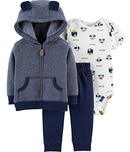 - Carter's Baby Boys' Cardigan Sets (12 Months, Navy/Dogs)
