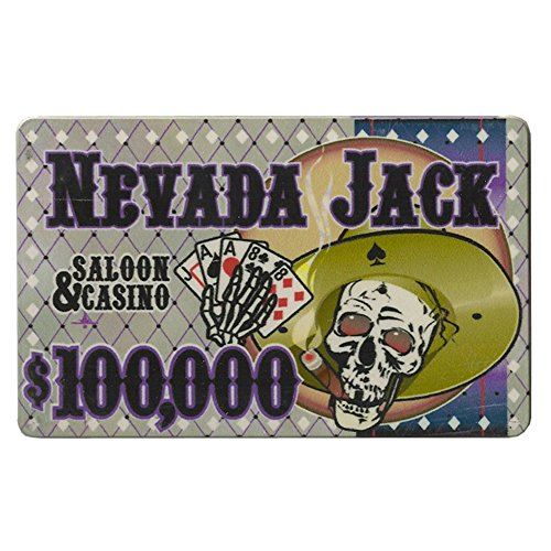Nevada Jack $100,000 Poker Plaque 40-gram Casino Grade Ceramic - Pack of - Plaque Chip Ceramic Poker