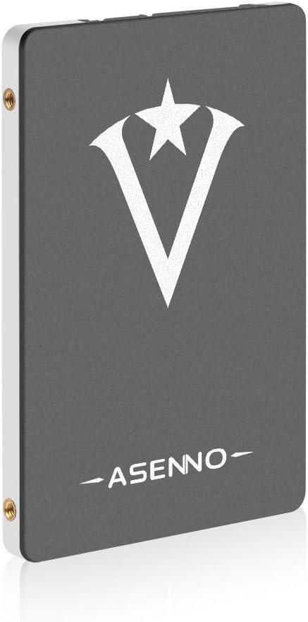 ASENNO 120 GB 128 GB de 2,5 Pulgadas SSD SATAIII de 6 GB/s de Disco Duro Interno de Estado sólido para PC portátil de Escritorio con Tableta