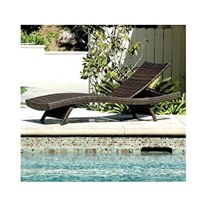 Incroyable Home Toscana Outdoor Brown Wicker Lounge Pool Patio Chairs Loungers Chaise  Furniture