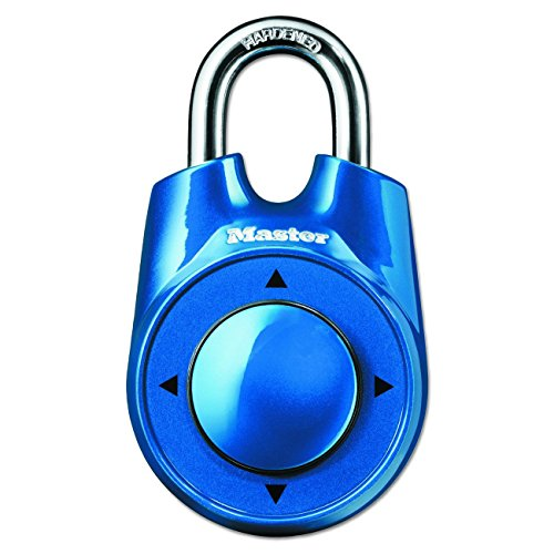 Master Lock Padlock, Set Your Own Speed Dial Combination Lock, 2-1/8 in. Wide, Assorted Colors, 1500iD 4-Pack
