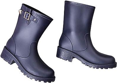 JHKJ Botines para Mujer, Botas de Lluvia Impermeables, Zapatos de jardín,Purple,36=6: Amazon.es: Zapatos y complementos