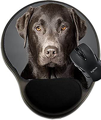MSD Natural Rubber Mousepad wrist protected Mouse Pads/Mat with wrist support design: 4852967 Shot of a Proud Chocolate Labrador