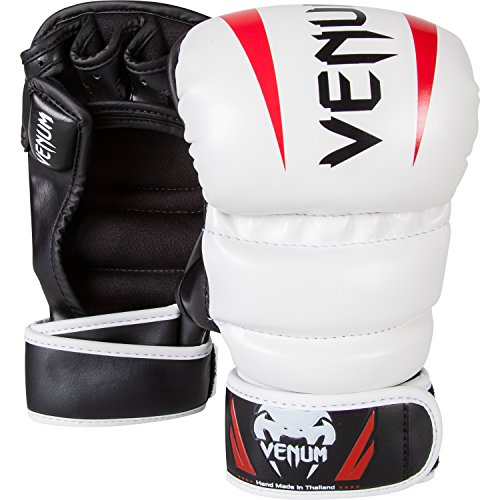 "Venum ""Elite"" MMA Gloves, White, Large/X-Large"