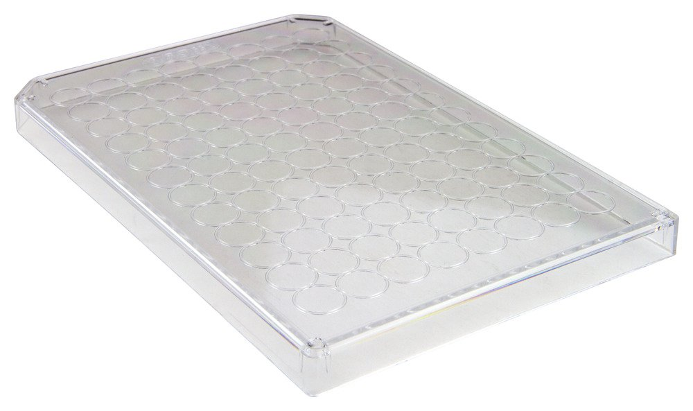 Caplugs Evergreen 290-8019-01L Microplate Lids. Polystyrene, Natural, Box pack by Caplugs