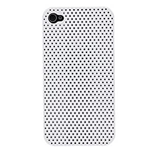 iphone covers Solid Color Mesh Pattern PC Hard Case for Iphone 5 5s White