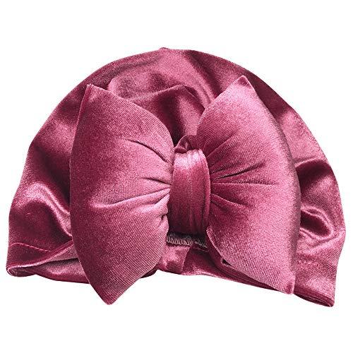 Little Kids Cartoon Winter Warm Hat,Jchen(TM) Clearance 1Pc Newborn Toddler Kids Baby Boy Girl Bowknot Turban Beanie Hat Headwear Hat for 1-5 Y (Purple)