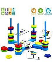 VATOS Magnetische Spielzeuge, Pädagogisches Spielzeug Magnetisch Match Ringe für Kinder ab 3 4 5 6 7 8 Jahre - Ideals Magnetisches Brettspiel für Freundes und Familienkreis