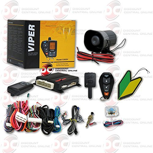 2015 Viper Responder 2-way Car Alarm Security System with Keyless Entry & Remote Start + Free Squash Air Fresheners (Viper 2 Way Remote Start compare prices)