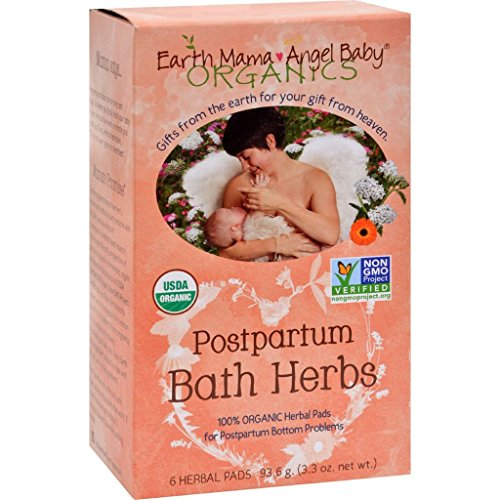 Price comparison product image dolly2u Earth Mama Angel Baby Postpartum Bath Herbs - 6 Pads