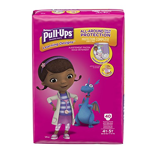 : Pull-Ups Learning Designs Training Pants for Girls, 4T-5T, 40 Count (Packaging May Vary)