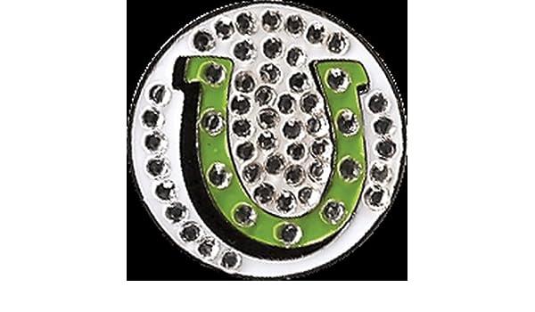 Metal marcador de pelota de Golf cristal de herradura solo ...