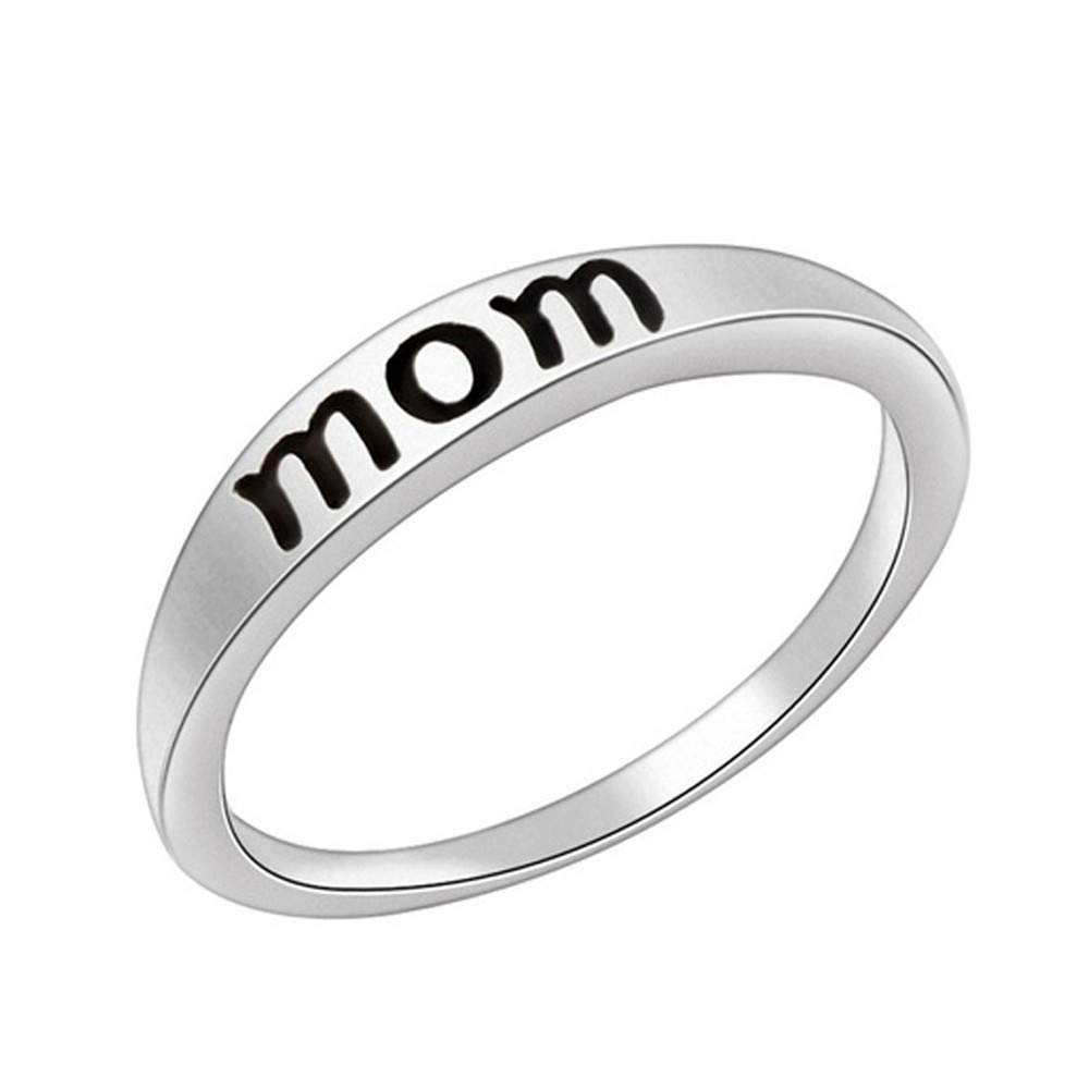 Yiwanjia Fashion Silver Ring Charm Exquisite Elegant Women Girl Jewelry Accessories Gift for Mom Daily Life Jewelry
