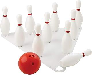 Visiodirect Set DE 10 quilles Bowling avec Balle - Hauteur 38 cm