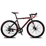 VTSP XC760 Cyrusher Road Bike For Man&Woman 52cm Lightweight Aluminium Frame Road Bike Commuter Bike 700c Tire -Tourney ST-A070 Shifting System 14 Speeds Disc Brakes (U.S. WAREHOUSE)