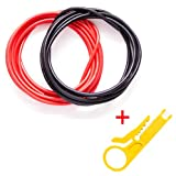 Gadgeter 20 Feet (10 ft Red 10ft Black)16 Gauge Flexible Silicone Wire With Wire Stripper Super Low Electrical Resistance For a Highly Efficient Connection AWG