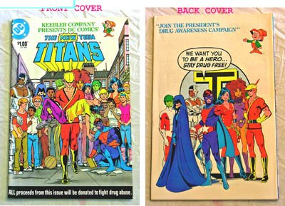 The New Teen Titans Limited Edition Comic Book  Ttdr2    Keebler Company 1983 Fight Drug Abuse Special   Dc Comics   9 0 Grade   Nancy Reagan