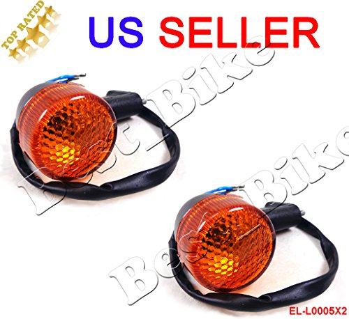 (Set of 2) Rear Turn Signal Light for 50cc 150cc GY6 Moped Scooter Motorcycle 12V Chinese Sunl Baja JCL