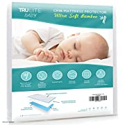 TRU Lite Bedding Waterproof Baby Crib Mattress Cover - Hypoallergenic Mattress Protector - Bamboo Rayon Fiber Quilted Terry Fitted Sheet - Protect from Dust Mites & Mold