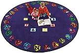 Flagship Carpet Children Learning Floor Playmat Nylon Super Circle - 6' Toys Christmas Gift