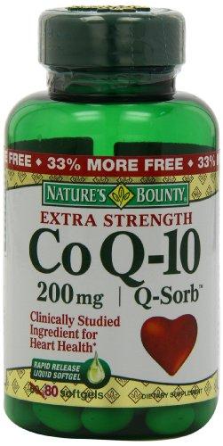 Bounty Co Nature Q-10, Extra Strength, Bonus 200 mg (valeur Size), 80 gélules