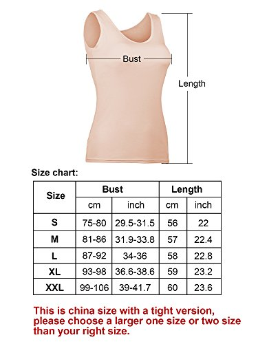 5368a49207109 Hestya Women Tank Top Built-in Bra Camisole Padded Cami Top Bra Top ...