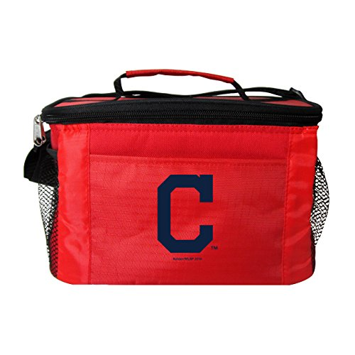 Kolder MLB 6 Can Cooler Bags - Cleveland Indians Red - Insulated Lunch Box or Tote
