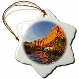 3dRose Danita Delimont - Texas - Palo Duro Canyon State Park, Texas, USA - US44 LDI0488 - Larry Ditto - 3 inch Snowflake Porcelain Ornament (orn_146632_1)