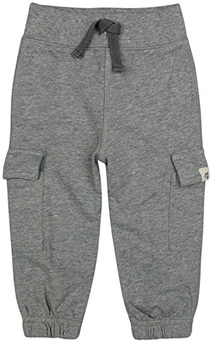 Burt's Bees Baby Boys' Organic French Terry Cargo Pant, Heather Grey, 12 Months