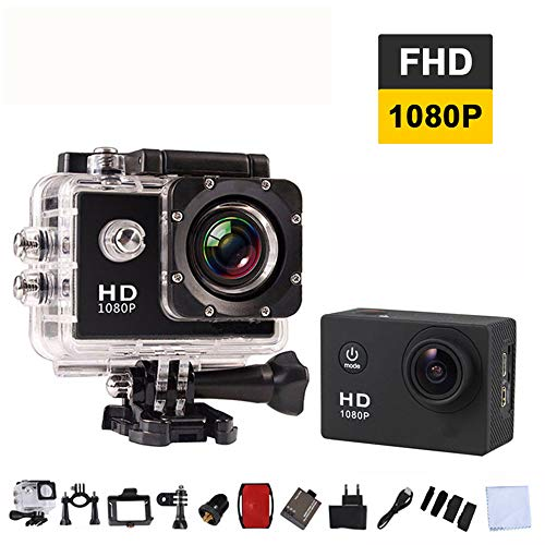 QUARKJK WiFi Ultra HD 1080p Night Vision Action Camera 170 Degree Fish-Eye Sport dv Camera firmware Camera Action 4k