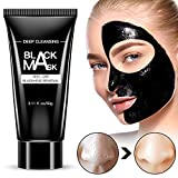 Blackhead Remover Mask, Deep Cleansing Black Mask for Face & Nose Peel Off Blackhead Mask Gentle Facial Mask for Men and Women for All Skin Types