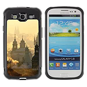 WAWU Rugged Armor Slim Protection Case Cover Shell -- church city Vatican sunrise clouds -- Samsung Galaxy S3 I9300